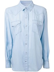 Scanlan Theodore Western Denim Shirt Blue