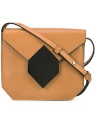 Pierre Hardy Prism Crossbody Bag Brown