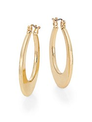 Ak Anne Klein Hoop Earrings Gold