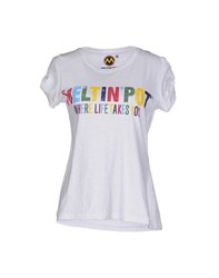 Meltin Pot Topwear T Shirts Women White