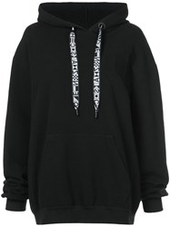 Proenza Schouler Hooded Sweatshirt With Drawstring Cotton Xs Black