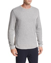 Vince Raw Edge Crewneck Sweatshirt Gray