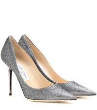 Jimmy Choo Abel Glitter Pumps Grey