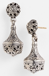 Konstantino 'Classics' Filigree Drop Earrings Silverf