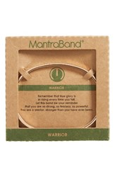 Mantraband Women's Warrior Engraved Cuff Rose Gold