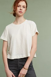 Anthropologie Lula Tee Cream
