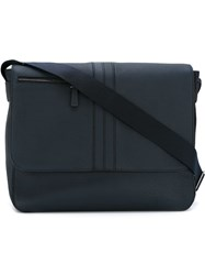 Tod's Zip Detail Messenger Bag Blue