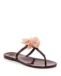 Tory Burch Blossom Jelly Thong Sandals Port Royal Victorian Rose