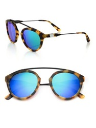 Westward Leaning Flower 2 51Mm Round Sunglasses Tortoise Blue