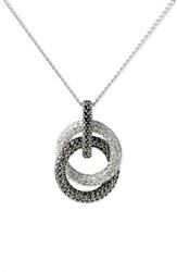 Judith Jack Pave Double Circle Pendant Necklace