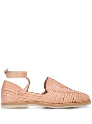 Brother Vellies Lace Up Huaraches Pink