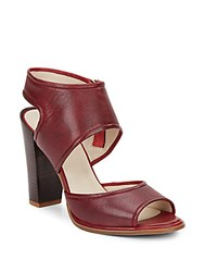 Kenneth Cole Stacy Leather Sandals Maroon