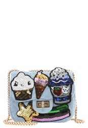 Sweet Deluxe Cup Cakes Across Body Bag Jeansblau Multi Blue Denim