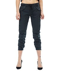 Hudson Jeans Solid Cropped Pants Blackened