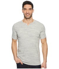 Mod O Doc Oxnard Short Sleeve Notch Tee Superfine Rib Vanilla Heather T Shirt White