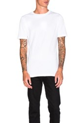 Helmut Lang Jersey Short Sleeve Tee In White