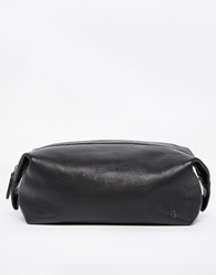 Polo Ralph Lauren Leather Wash Bag Black