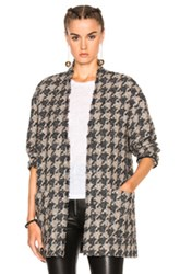 Isabel Marant Jameson Tweed Jacket In Gray Checkered And Plaid Gray Checkered And Plaid