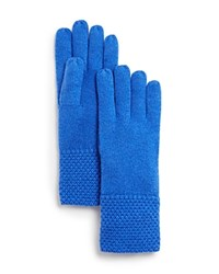 Bloomingdale's C By Waffle Knit Cashmere Gloves River
