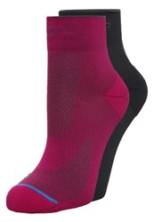 Odlo Basic 2 Pack Sports Socks Sangria Graphite Grey Red