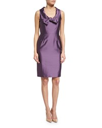 Valentino Sleeveless Scoop Neck Sheath Dress Purple
