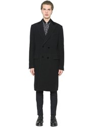 Dolce And Gabbana Velvet Collar Wool Cloth Coat