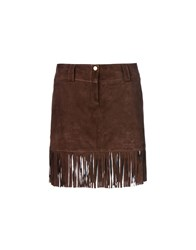 George J. Love Skirts Mini Skirts Women Dark Brown