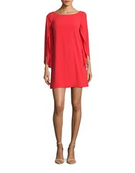Jessica Simpson Crepe Sheath Dress Hot Coral