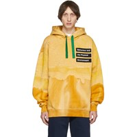 Acne Studios Orange Printed Dye Hoodie