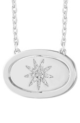 Lulu Dk Women's Crystal Pendant Necklace You Are My Sunshine Silver