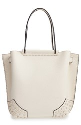 Tod's Small Wave Leather Tote Orange Stucco White