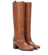 Valentino Garavani Leather Boots Brown