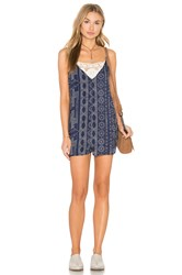 Eight Sixty Matador Romper Blue