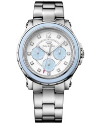 Juicy Couture Women's Hollywood Stainless Steel Bracelet Watch 38Mm 1901381 Silver