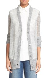Alexander Wang Women's T By Cobweb Knit Mohair Blend Button Cardigan