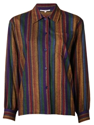 Yves Saint Laurent Vintage Striped Blouse Multicolour