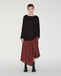 Nocturne 22 Plaid Skirt Red