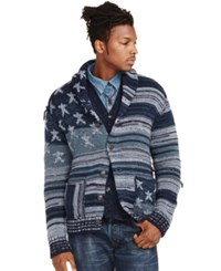 Denim And Supply Ralph Lauren Americana Cotton Cardigan Indigo