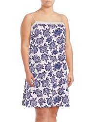 Lord And Taylor Paisley Printed Pima Cotton Lace Dress Watercolor