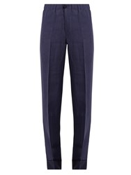 F.R.S For Restless Sleepers Etere Wide Leg Linen Pyjama Trousers Navy