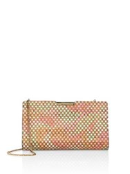 Milly Geometric Cork Small Convertible Clutch Pink Multi