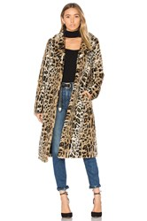 Majorelle Fifi Faux Fur Coat Brown