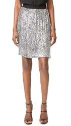 Rodarte Sequin Skirt Silver