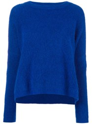 By Malene Birger Ribbed Shift Jumper Blue