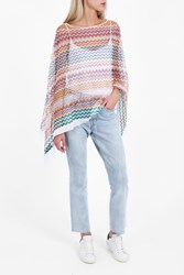 Missoni Women S Small Zigzag Poncho Boutique1 Multi