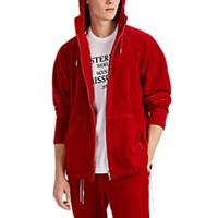 Mastermind Japan Cotton Blend Velour Hoodie Red