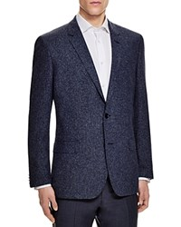 Boss Hugo Boss Boucle Textured Hutch Slim Fit Sport Coat Blue White