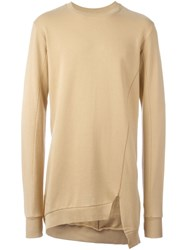 Thom Krom Asymmetric Hem Sweatshirt Nude And Neutrals