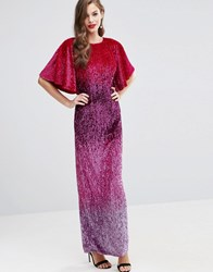 Asos Red Carpet Ombre Embellished Kaftan Maxi Dress Multi