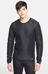 Versace 'Silver Thread' Crewneck Sweater Black Silver